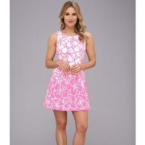 LILLY PULITZER Bella Pink Floral Fit & Flare Dress